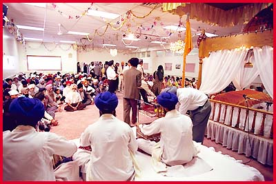 Wedding Ceremony Hymns on The Sounds Of Kirtan Are Heard As People Enter And
